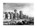 View of the Remains of Caracalla's Baths, Taken from the Jesuit's Garden, Rome, C.1778 Giclee Print by Richard Cooper