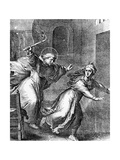 The Young Thomas Aquinas Chases a Temptress from His Room Giclee Print