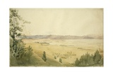 Vale of Kashmir from Shupyon Hill, 1838 Giclee Print by Godfrey Thomas Vigne