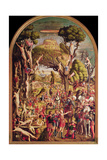 The Crucifixion and the Glorification of the Ten Thousand Martyrs on Mount Ararat Giclee Print by Vittore Carpaccio