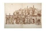 Villa Aldobrandini at Frascati Giclee Print