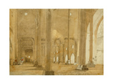 West Side of the Great Mosque, Kashmir, 1835 Giclee Print by Godfrey Thomas Vigne