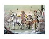 A Yakuti Shaman with Entourage, Siberia, C.1820s-30s Wydruk giclee