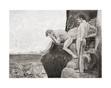 Liberation of Prometheus by Hercules. after a Work by Max Klinger. from Johannes Brahms by… Giclee Print