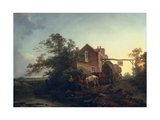 Wagon Outside an Inn Giclee Print by Philip James De Loutherbourg