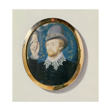Man Clasping a Hand from a Cloud, Perhaps Lord Thomas Howard, 1588 Giclee Print by Nicholas Hilliard