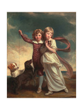 Thomas John Clavering and Catherine Mary Clavering: the Clavering Children, 1777 Giclee Print by George Romney