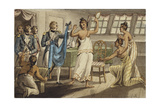 Otahitiano, Illustration from 'The Voyages of Captain Cook' Giclee Print by Isaac Robert Cruikshank