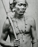 Vietnamese or Cambodian Tribal Chief, C.1870s Photographic Print by Emile Gsell