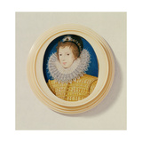 Young Man in Yellow with Bonnet and Feather, C.1585-90 Giclee Print by Nicholas Hilliard