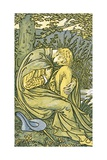 Lover with Head Bowed in Grief, from 'O Willow, Willow', Traditional English Folk Song,… Giclee Print by Walter Crane
