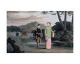 Chinese Lady with Pavilion in Background, from 'A Picturesque Journey to India, by the Way of… Giclee Print by Thomas & William Daniell