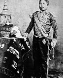 King Norodom of Cambodia in Siamese Military Uniform, 1861 Photographic Print by Emile Gsell