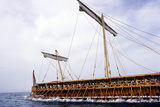 Replica of the Trireme 'Olympia' at Sea Photographic Print