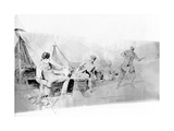 War Correspondents' Uncomfortable Experience, Published in 'Black and White', January 1898 Giclee Print by René Bull