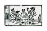 Smoking and Drinking in a Tavern Giclee Print