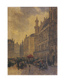 The Grande Place in Brussels, 1890 Giclee Print by Gustave Walckiers