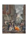 Times of Day, Night, Illustration from 'Hogarth Restored: the Whole Works of the Celebrated… Giclee Print by William Hogarth