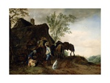 Halt of Cavaliers at an Inn, C.1642-43 Giclee Print by Philips Wouwermans Or Wouwerman