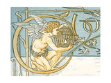 Angel Offering a Wicker Cage with an Open Door Allowing the Song Birds to Escape, Contents Page… Giclee Print by Walter Crane