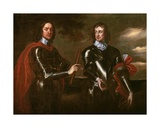Oliver Cromwell and Henry Lambert, C.1650 Giclee Print by Robert Walker