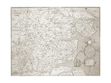 Map of Essex, 1602/03 Giclee Print by William Smith