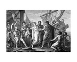 The Anger of Achilles for the Loss of Briseis, Engraved by Domenico Cunego, 1764 Giclee Print by Gavin Hamilton