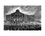 Burning of the Court-House at Cork, C.1891 Giclee Print