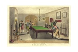 Game of Billiards, 1827 Giclee Print