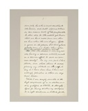 Autograph Manuscript of Lincoln's Election Victory Speech as President, Delivered in Washington… Giclee Print by Abraham Lincoln