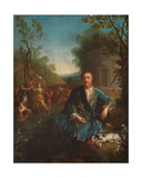 Portrait Study of Philippe De Vendome, Grand Prior of France Giclee Print by Jean Raoux