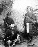 Kachin Warriors, C.1898-91 Photographic Print by Felice Beato