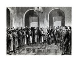 Sir Bartle Frere Is Received by the Sultan of Zanzibar. Illustration from 'The Graphic' Magazine,… Giclee Print by Godefroy Durand