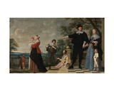 Portrait of a Bruges Family Giclee Print by Jacob Van Oost