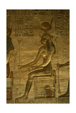 Ptolemaic Temple of Hathor and Maat. Hathor. Seated Figure. Egypt Giclee Print
