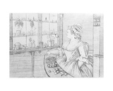 Mrs Weltje in Her Shop in Pall Mall, 1783 Giclee Print by Charles Bretherton