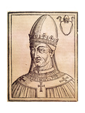 Pope Vigilius (C. 500-555). Roman Pope (537-555). Engraving Giclee Print