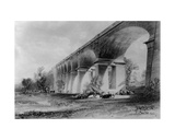 Wharncliffe Viaduct, C.1840s Giclee Print by John Cooke Bourne