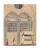 Portal of St. John's Hospital, Bruges Giclee Print by Philippe Auguste de Peellaert