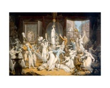 An Elegant Establishment for Young Ladies Giclee Print by Edward Francis Burney