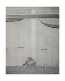 Horses by the River, C.1970s Giclee Print by Masabikh Akhunov