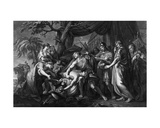 Achilles Laments the Death of Patroclus, Engraved by Domenico Cunego, 1764 Giclee Print by Gavin Hamilton