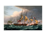 Capture of La Loire, October 18th 1798, from 'The Naval Achievements of Great Britain' by James… Giclee Print by Thomas Whitcombe