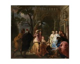 Achilles and the Daughters of Archimedes Giclee Print by Erasmus Quellinus