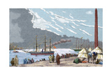 Egypt. The Spanish Frigate 'Berenguela' by the Suez Canal Giclee Print