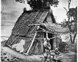 Mountain Hut, Province of Huzeh, C.1867-72 Photographic Print by John Thomson