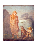 Fight Between Pan and Eros, from the House of Meleager, Pompeii Giclee Print