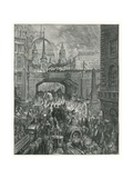 Ludgate Hill Giclee Print by Gustave Doré