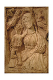 Byzantine Art. Greece. Virgin Dexiokratousa in Stone. Holding the Child with His Right Hand Giclee Print