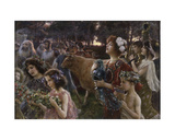 The Procession Giclee Print by Cesare Saccaggi